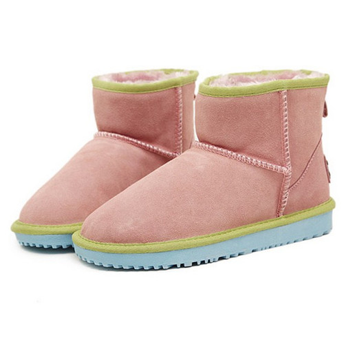 City style In-tube wool warm woman snow boots