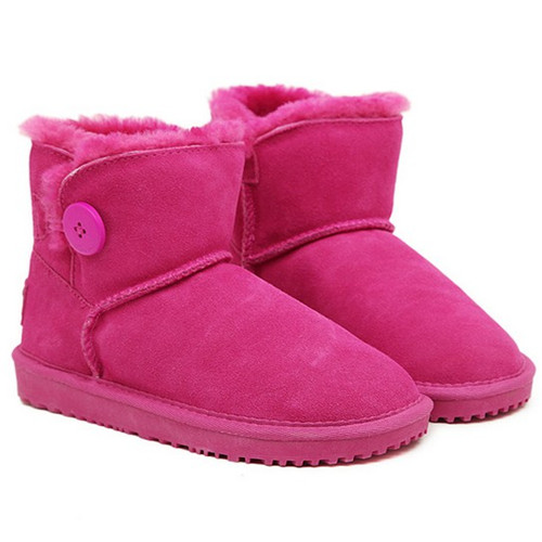 Fahion girl style cotton deep pink woman snow boots