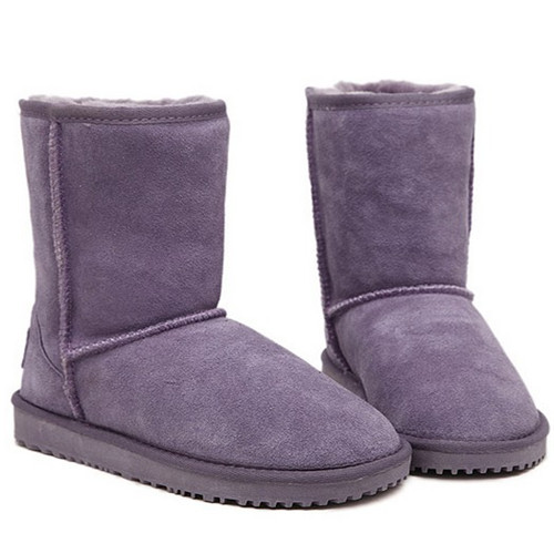 cute girl style In-tube purple woman snow boots