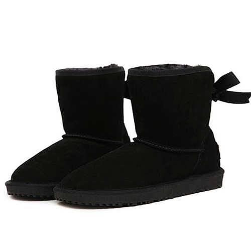 Fahion girl style In-tube black snow boots for woman