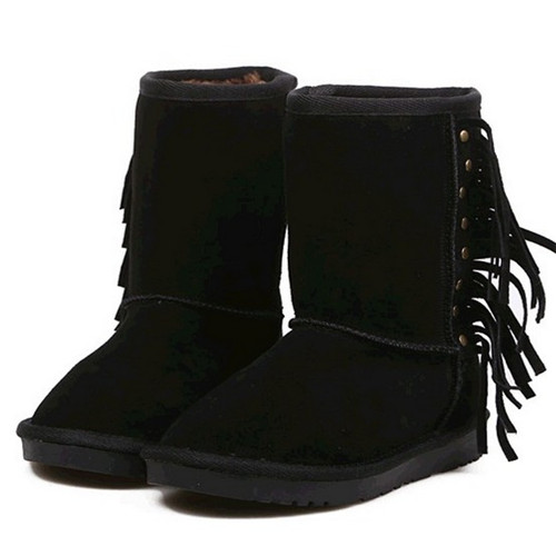 Fashion style In-tube wool woman snow boots