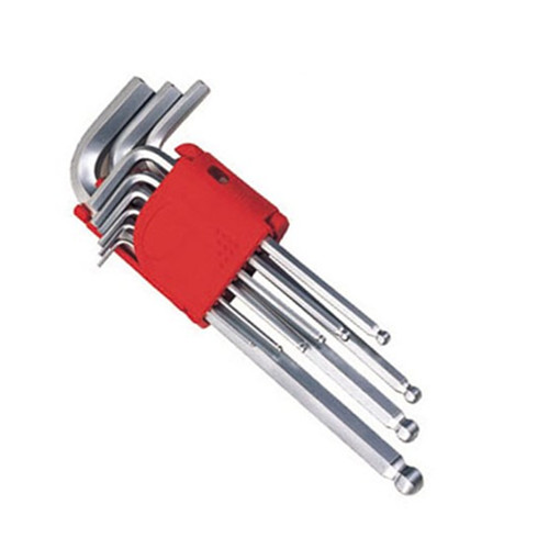 9PC Ball Point Hex Key Wrench Set, Allen Key, Cr-V Hex Key Set