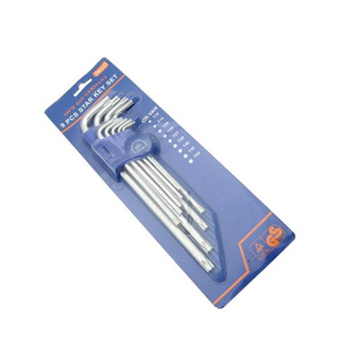 9PC Star Hex Key Set, Allen Key, Cr-V Hex Key Set