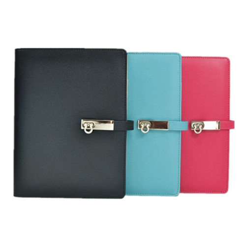 A5 PU Cover Business Notebook with a Metal Fastener