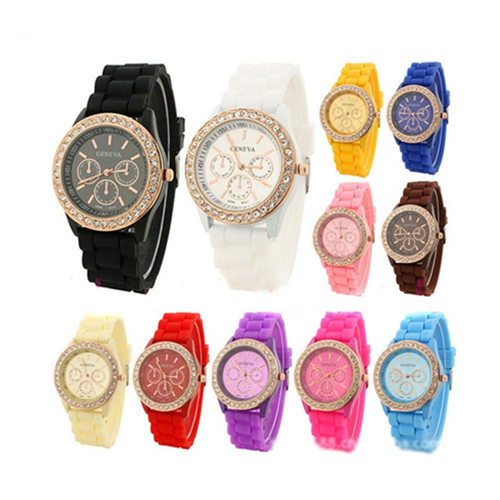 Luxury Crystal Silicone Bracelet Watch