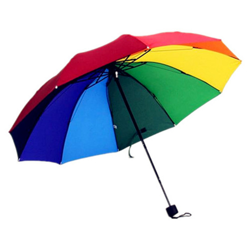 Promotional 3 Fold Rainbow Umbrella