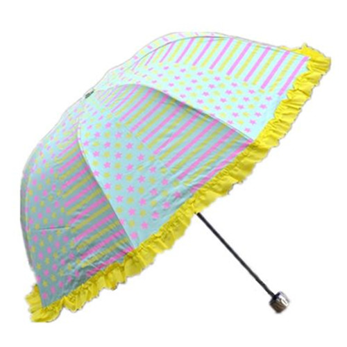 3 Fold Fashion Princess Ladies Umbrella