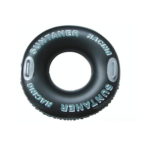 Adult black color inflatable swimming ring