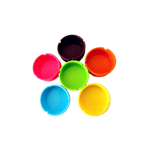 New style round shape silicone rubber ashtray