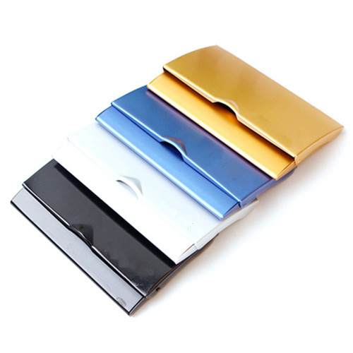 Silver stainless steel metal name card holder