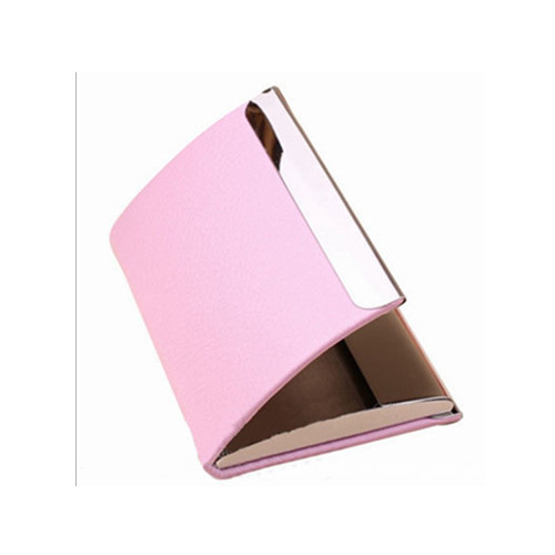 New style pink color metal name card holder