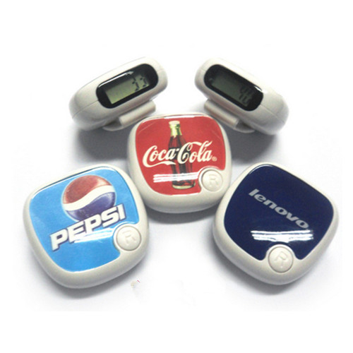 ABS and acrylic with one button digital pedometer