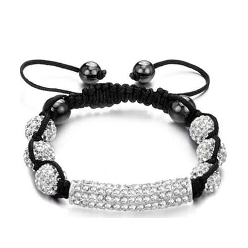 Promotional Silver Diamond Woven Rope Bracelet