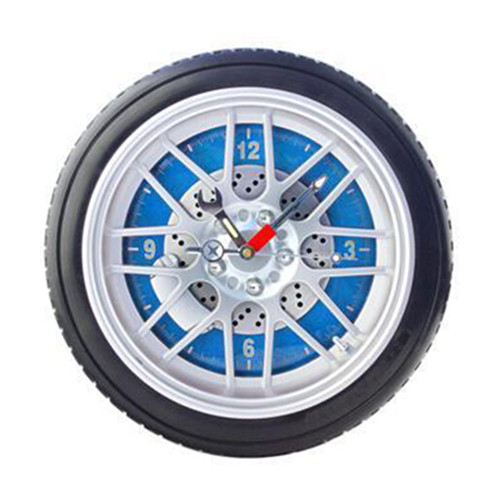 Promotional 10 inch tyre wall clock, tire clock, wheel clock