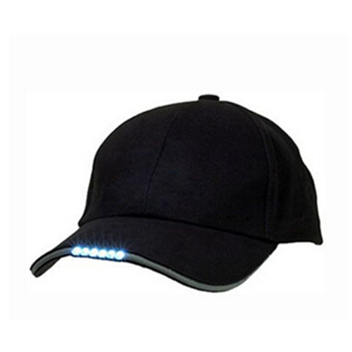 Black color cotton led light baseball cap