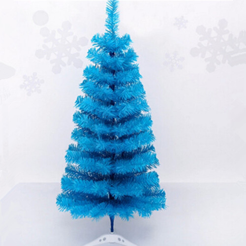 90cm artificial plastic christmas blue color tree
