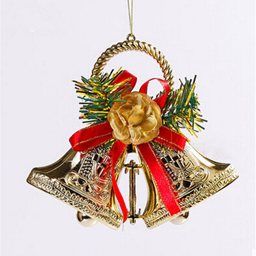 15cm christmas two bell with bowknot