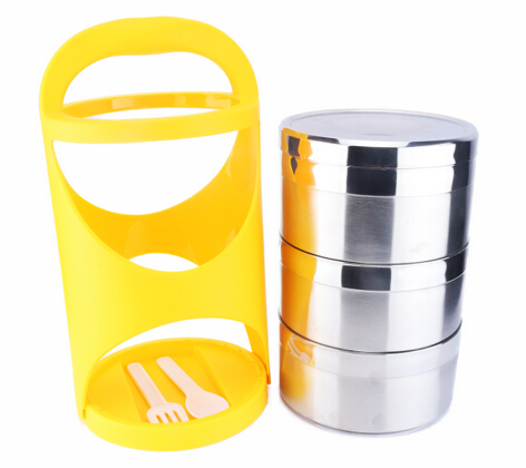 Promotional 3 Layers food jar, Lunch Box,  Bento Box, Stainless Steel Food Container