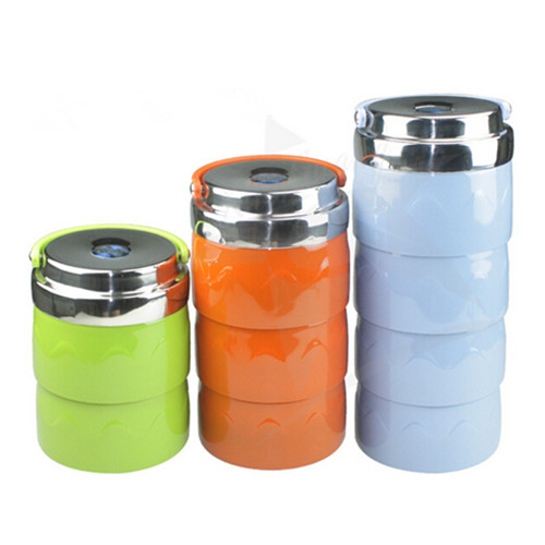 Stainless Steel Square Lunch Box, Food Carrier, Thermal Container Camping Lunch Box