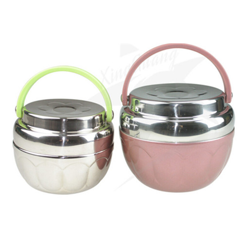 Apple shape stainless steel thermo lunch box, tinffin lunch box, food jar