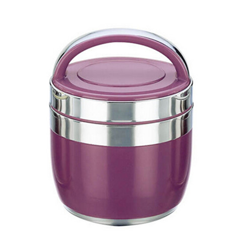 Wholesale purple color Stainless Steel Keep Warm Food Container