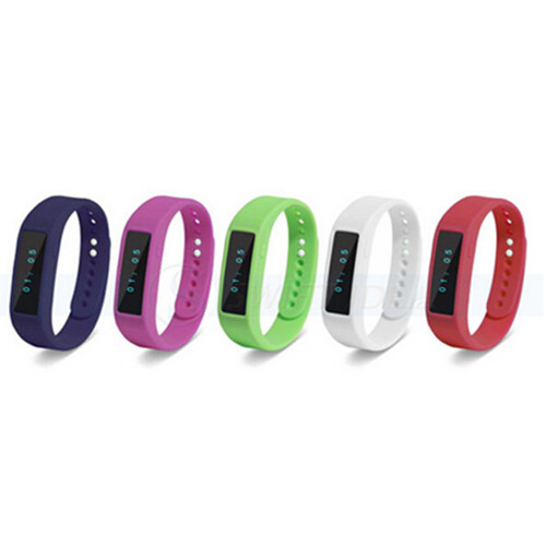 Smart Bluetooth 4.0 LED Bracelet with Sleep Monitor and Walk Pedometer