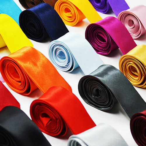 24 colors 5CM plain shiney neck ties for men