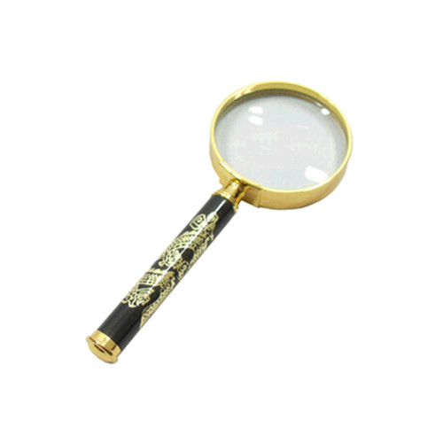 8X 50mm old man reader metal handle magnifier