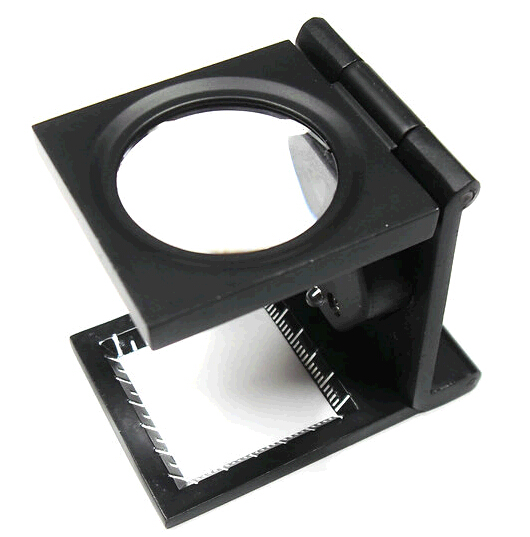 3X foldable desk reading magnifier with 4 led lamp, A4 full page desk magnifying glass lens