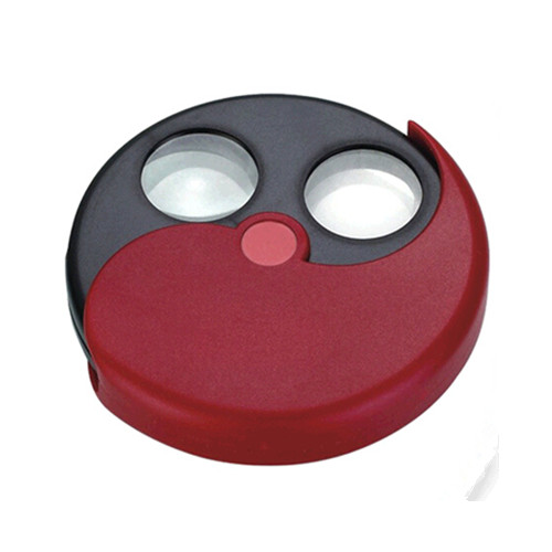 Taichi turntable swivel round shape two mirrors magnifier