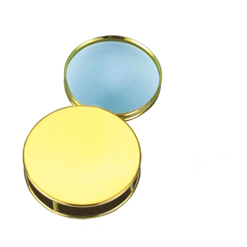 4x round shape mirror metal box magnifier
