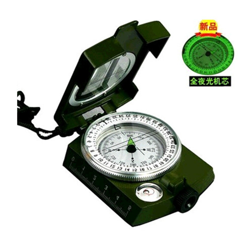 High precision multi-function fluorescent cover sport military compass