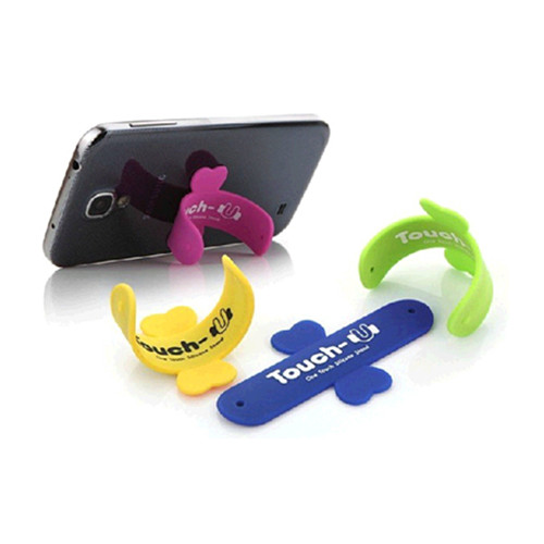 Touch U shape silicone mobile phone holder