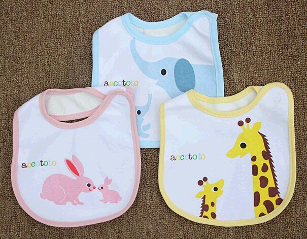 2015 promotional cheap cotton baby bibs, newborn baby bibs, infant baby bibs