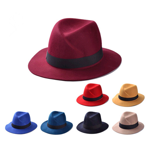 Wholesale Women Wide Brim Wool Felt Fedora Cloche beach Bowler Hat and Cap ef3b0463ee21