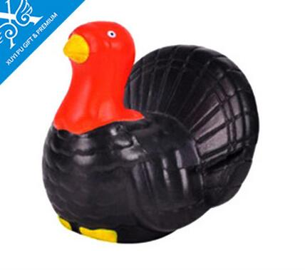 Wholesale black color turkey shape pu stress ball