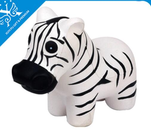 Wholesale zebra shape pu stress ball
