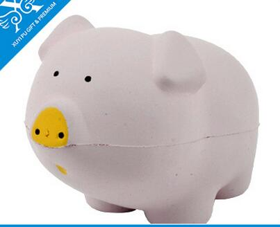 Wholesale white color pig shape pu stress ball