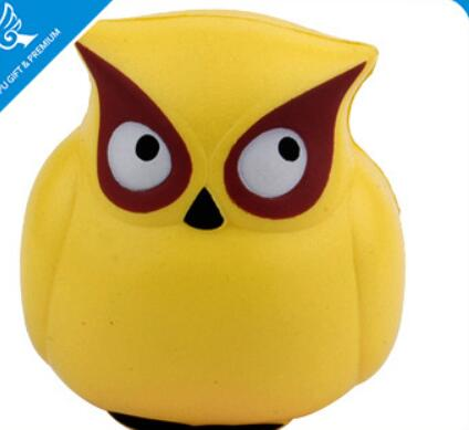 Wholesale owl shape pu stress ball