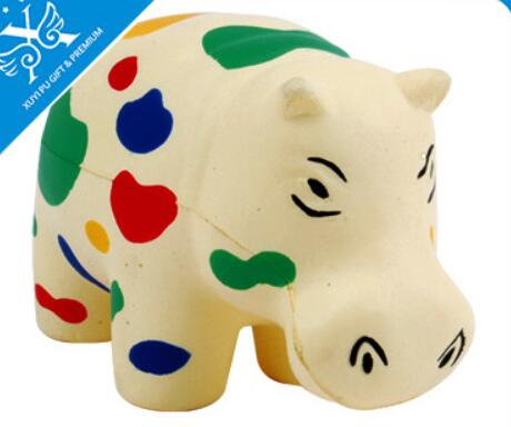 Wholesale rhinoceros shape pu stress ball