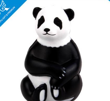 Wholesale custom panda shape pu stress ball