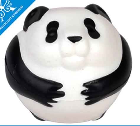Wholesale custom cute panda shape pu stress ball