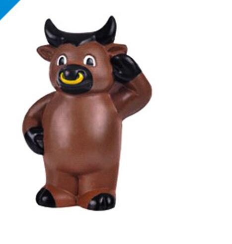 Wholesale bull or cow shape pu stress ball