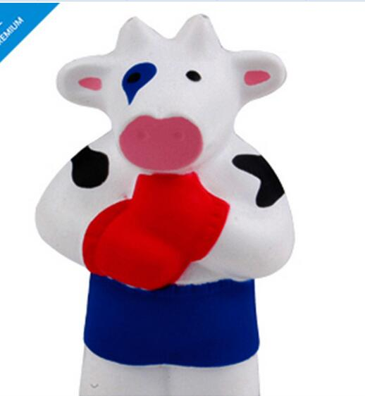 Wholesale special bull or cow shape pu stress ball