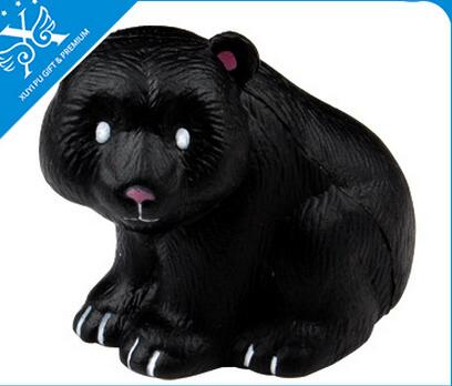 Wholesale black bear shape pu stress ball