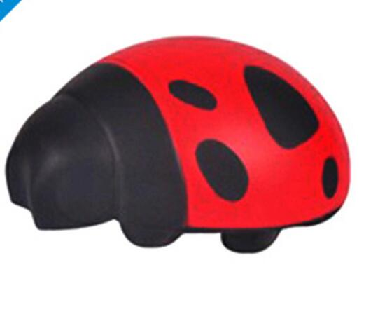 Wholesale coccinella septempunctata shape pu stress ball