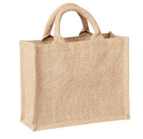 Wholesale yellow flax cotton shopping bag for promotional