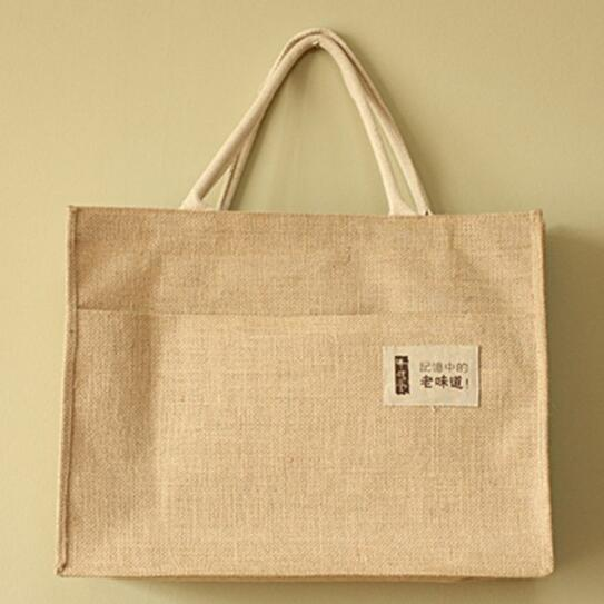 Promotional cheap flax or cotton shopping bag