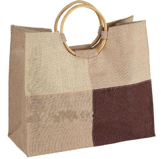 Wholesale promotional flax or linen shopping bag