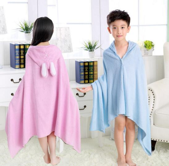Bamboo fiber children cloak bath towel for beach swimming bath towel